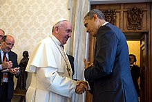 Pope Francis with U.S. President Barack Obama