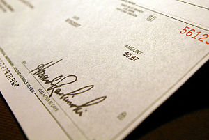 An example of a cheque.