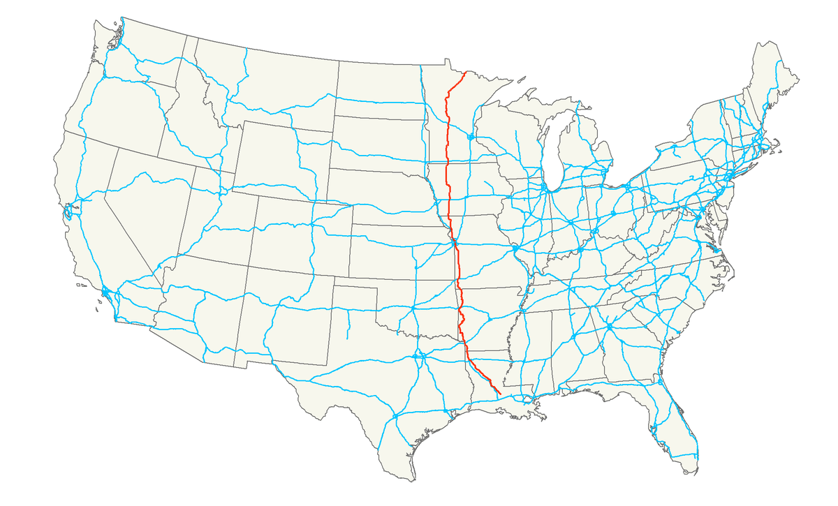 Us Map Hwy Baton Rouge To Miles