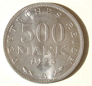 "Weimar Republic, 500 Mark, 1923 ""A"",..."