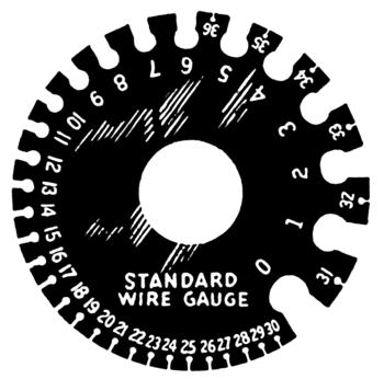 A wire gauge.