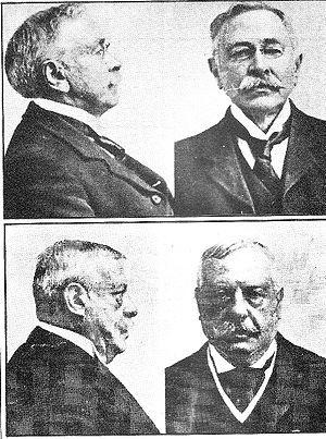 English: Police mugshots of Adolf Beck (top), ...