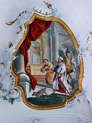Pharisäer und Zöllner - Fresko (F3), Basilika ...