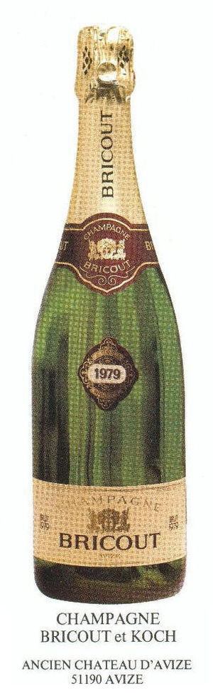 Bottle of Champagne Bricout vintage 79 Champag...