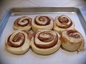 Cinnamon buns - after second rise