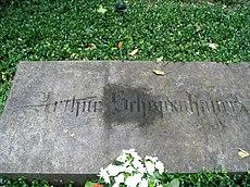 Lápida de la tumba de Schopenhauer (Cementerio mayor, Fráncfort del Meno)