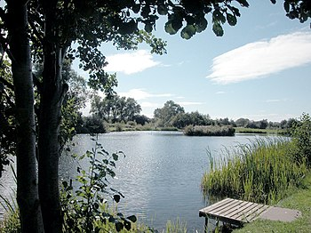 English: Lake. One of three fishing lakes at M...