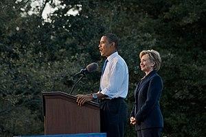 Obama-Clinton rally in Orlando. Barack Obama a...