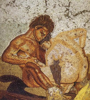 Pompeii - Casa del Fauno - Satyr and Nymph - MAN