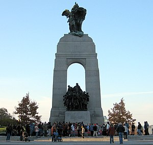 The National War Memorial in the afternoon on ...