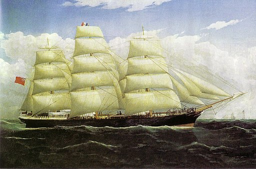 SS Dunedin by Frederick Tudgay