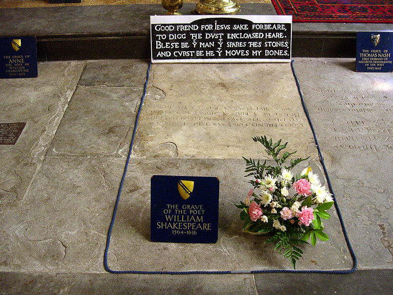 File:Shakespeare grave -Stratford-upon-Avon -3June2007.jpg