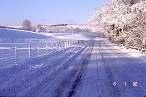 English: Snow scene near Smalesmouth