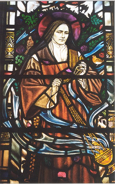 File:St Therese of Lisieux - stained glass window detail ... - geograph.org.uk - 1140602.jpg