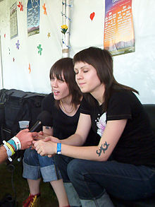 Tegan and Sara during a 2005 interview