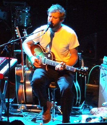 Bon Iver performing in Shepherd's Bush, UK.