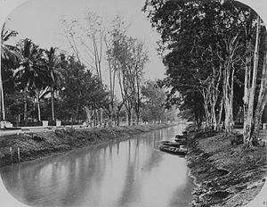 Nederlands: foto. Kali Tanah Abang, Batavia
