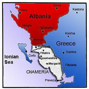 Chameria map