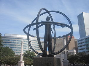 English: Christopher Columbus monument, Denver...