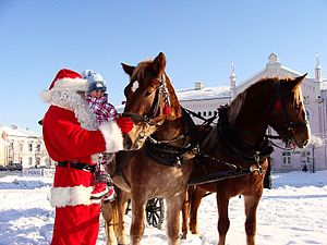 English: Santa Claus in Sanok, Poland Polski: ...
