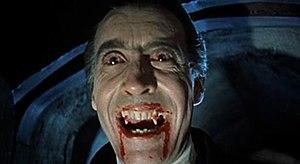 English: A screenshot from Dracula (1958), an ...