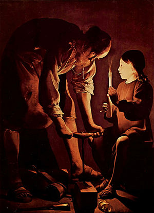 St. Joseph the Carpenter, by Georges de La Tou...