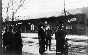 Hetzendorf Bahnhof Kaiserpaar 1916