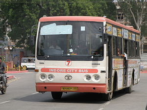 English: Indore City Bus in Indore, India
