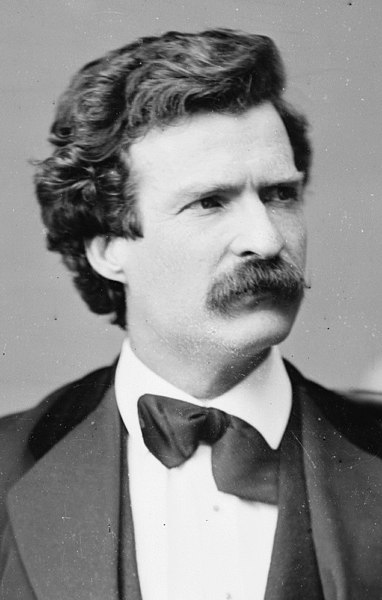 Mark Twain portrait cropped from US Library of Congress image