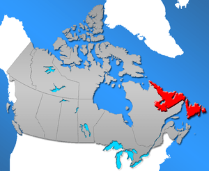 Province of Newfoundland and Labrador in Canada