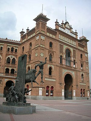English: Las Ventas Bullring, in Madrid (Spain...