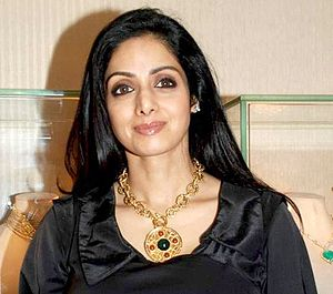 English: Sridevi during an audio launch.