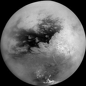 Titan's surface in 2004, imaged by looking thr...