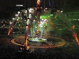 "U2 performing ""Zooropa"" in Oakland, ..."