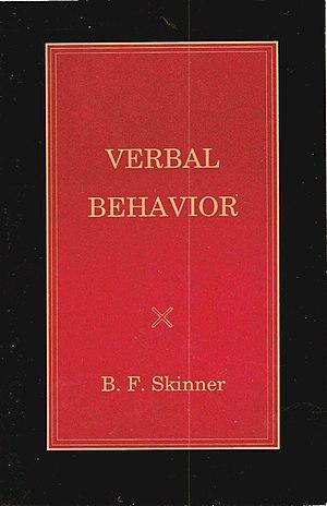 Cover of Verbal Behavior by B.F.Skinner