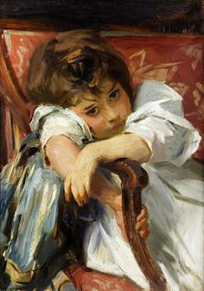 Bonhams - John Singer Sargent (1856-1925) Portrait of a Child 22 x 16in