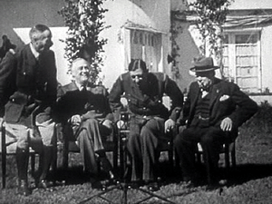 Charles de Gaulle sits down with rival Henri G...