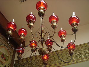 Chandelier at the Sonoma Depot ca