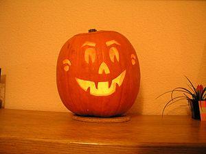 Citrouille d'intérieur pour Halloween