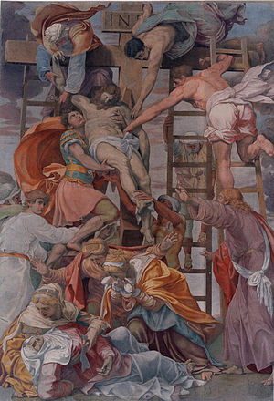 Descent from the Cross (c. 1545), before its 2...