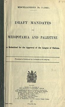 Mandate for Palestine  Wikipedia