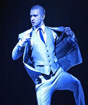 Timberlake performing at St. Paul, Minnesota, ...