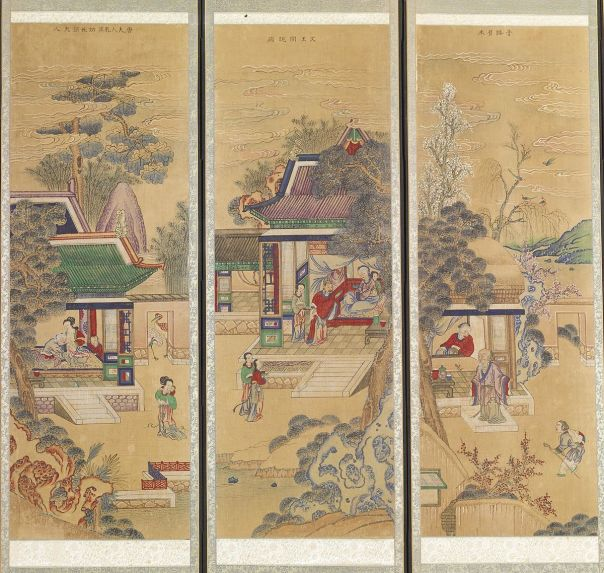 Korean - Ten-panel Folding Screen with Scenes of Filial Piety - Walters 35199 - Detail D.jpg