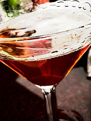 Bourbon, vermouth, and bitters