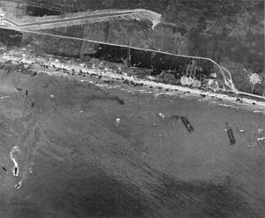 "English: ""aerial view of Omaha Beach, Nor..."