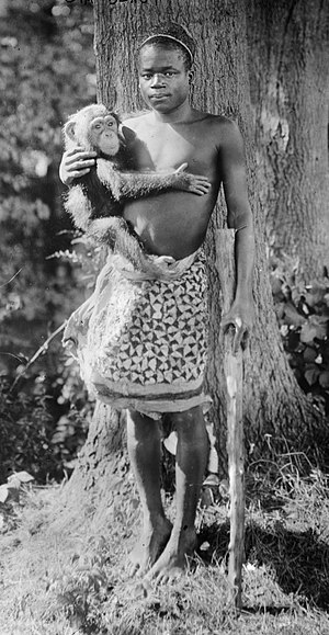Ota Benga, a human exhibit in New York, 1906
