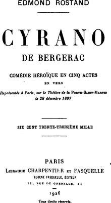 Cyrano De Bergerac La Tirade Du Nez : cyrano, bergerac, tirade, Tirade, Wikipédia