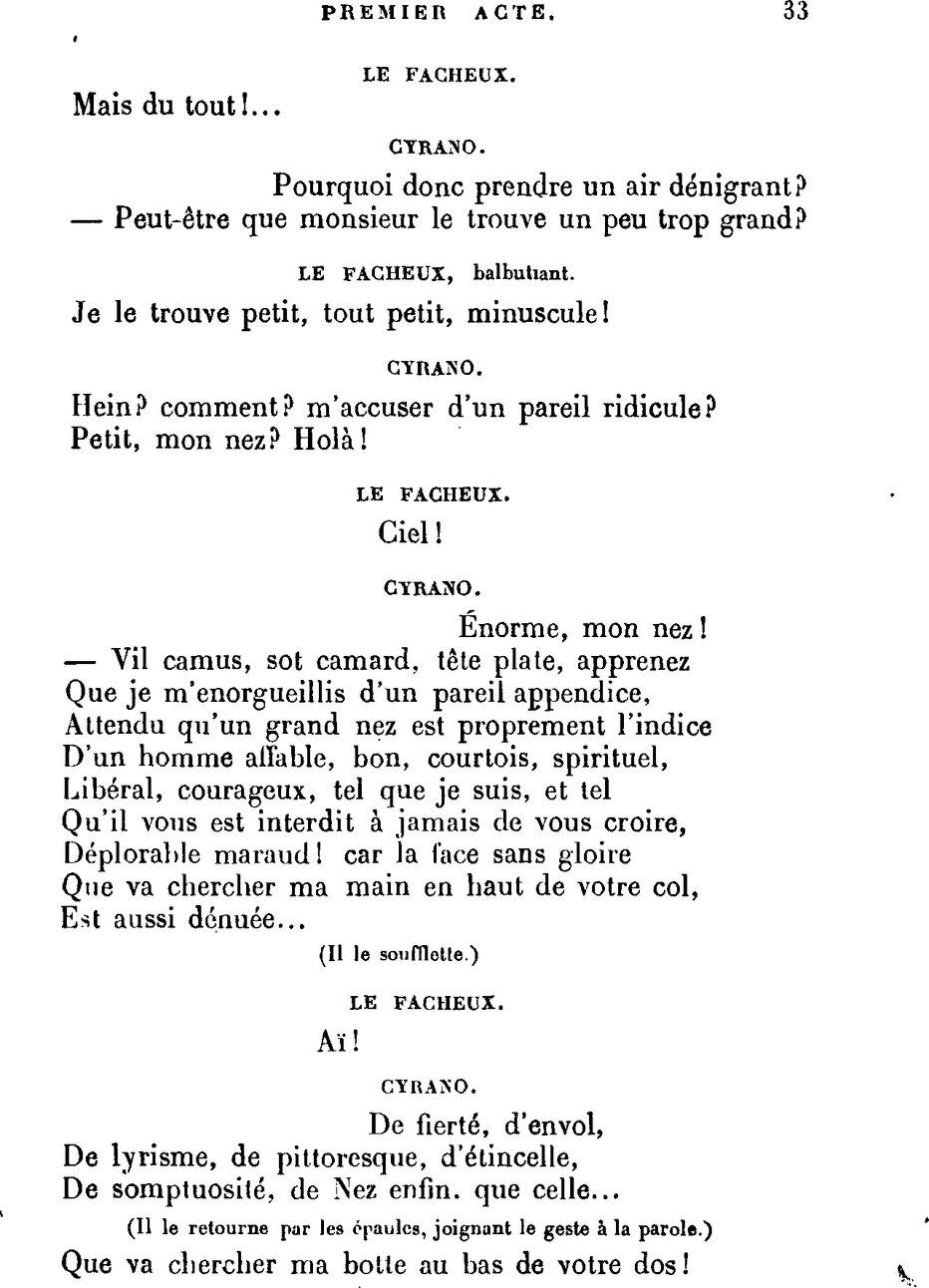 Tirade Du Nez Cyrano De Bergerac : tirade, cyrano, bergerac, Page:Rostand, Cyrano, Bergerac.djvu/33, Wikisource
