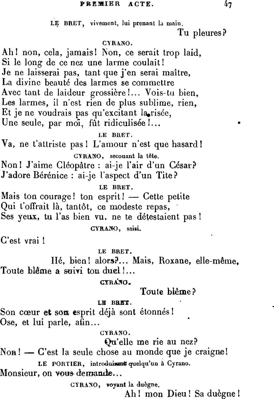Cyrano De Bergerac La Tirade Du Nez : cyrano, bergerac, tirade, Page:Rostand, Cyrano, Bergerac.djvu/47, Wikisource