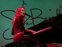Sara Bareilles Pictured In 2008 Covered Chandelier On Her Little Black Dress Tour 2017